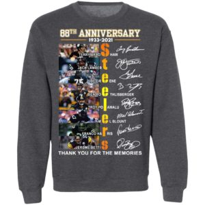 Steelers 88th Anniversary 1933-2021 Thank You For The Memories Shirt