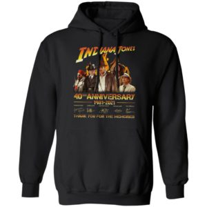 Indiana Jones 40Th Anniversary 1981-2021 Thank You For The Memories Signatures Shirt