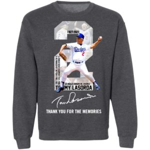 2 Tommy Lasorda Los Angeles Dodgers Thank You For The Memories Signature Shirt