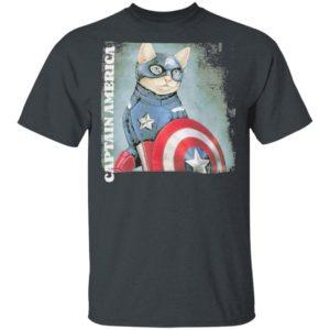 Cat Captain America shirt