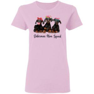 Doberman Mom Squad Flower Shirt