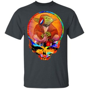 Yoda Listening Music Grateful Skull Shirt