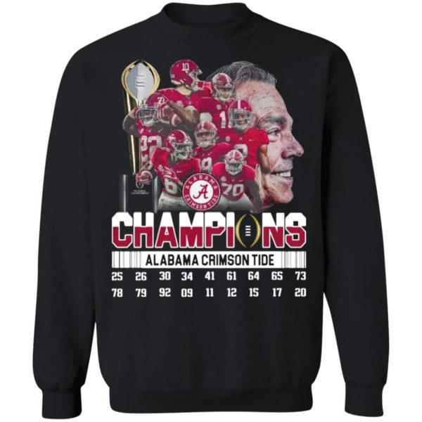 The Champions Alabama Crimson Tide Team Player 2021 Shirt