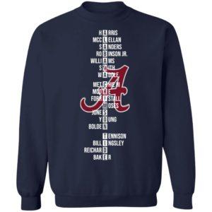 The Alabama Crimson Tide Name Players 2021 Shirt