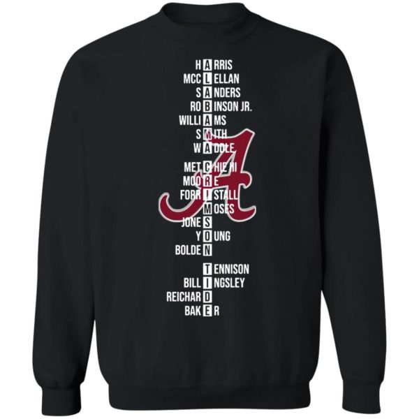 The Alabama Crimson Tide Name Players 2021 Shirt