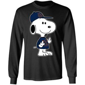 Snoopy Auburn Tigers NCAA Double Middle Fingers Fck You Shirt