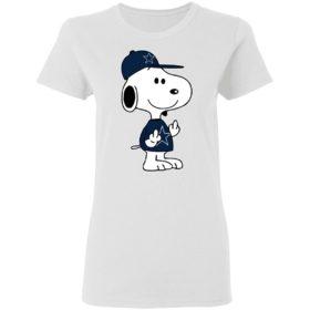 Snoopy Dallas Cowboys NFL Double Middle Fingers Fck You Shirt
