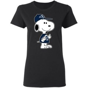 Snoopy Los Angeles Rams NFL Double Middle Fingers Fck You Shirt