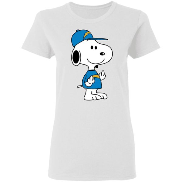Snoopy Los Angeles Chargers NFL Double Middle Fingers Fck You Shirt