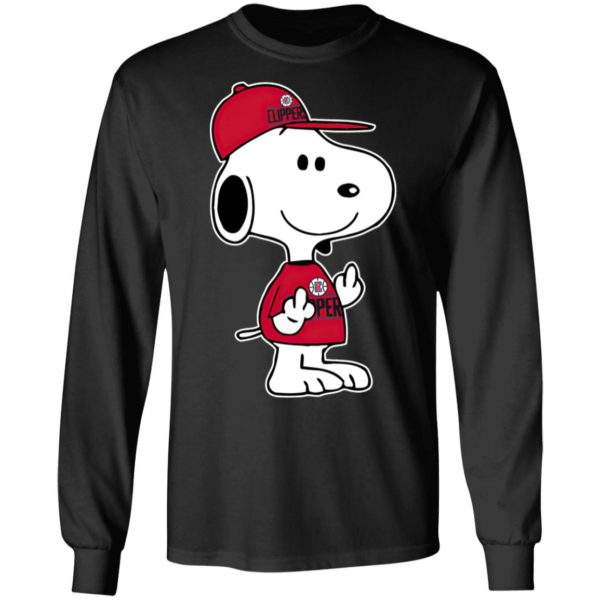 Snoopy Los Angeles Clippers NBA Double Middle Fingers Fck You Shirt