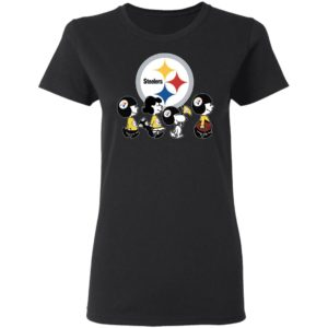 The Peanuts Snoopy And Friends Cheer For The Pittsburgh Steelers NFL Shirt
