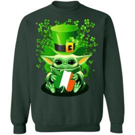 Baby Yoda Happy St Patrick's Day shirt