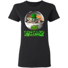 Baby Yoda St Patrick's Day shirt