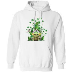 Green Gnome Hugging Baby Yoda St Patty's Day Shirt