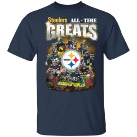 Pittsburgh Steelers All Time Greats Signatures Team Football Shirt