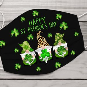 Happy ST Patrick day face mask