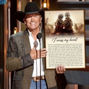George strait i cross my heart lyric old couple for fan Poster Canvas