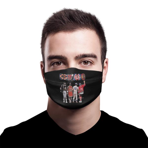 Chicago Chicago Bears Chicago Bulls Chicago Cubs Payton Jordan Mikita Signatures Face Mask