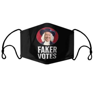 Faker Votes Funny Election Face Mask