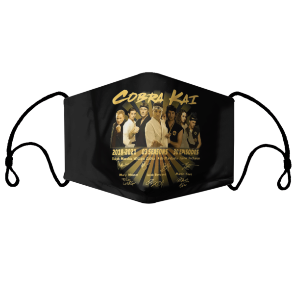 Cobra Kai 2018-2021 03 seasons 30 episodes signatures face mask