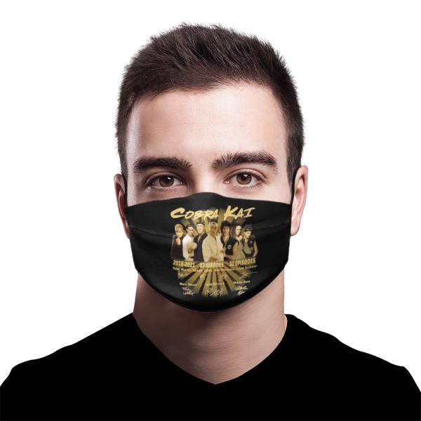 Cobra Kai 2018-2021 03 seasons 30 episodes signatures face mask