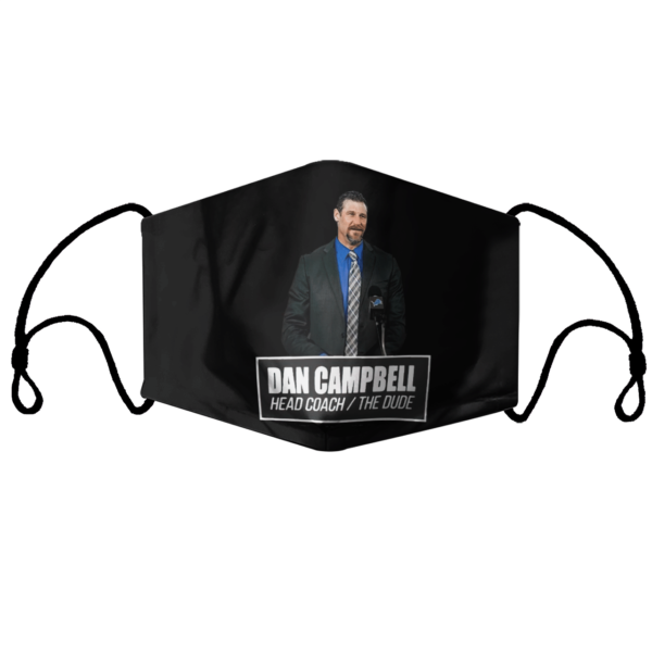 Dan Campbell head coach the dude face mask