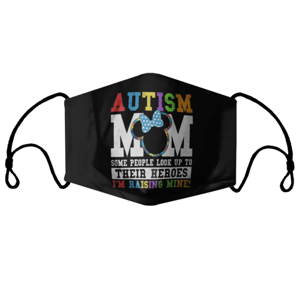 Minnie Mouse Autism Mom Awareness Disney Autism Mom face mask