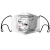PrangrySaurus pregnant angry hungry face mask