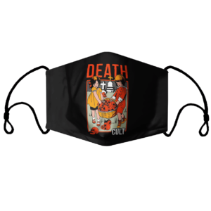 Death Cult black face mask