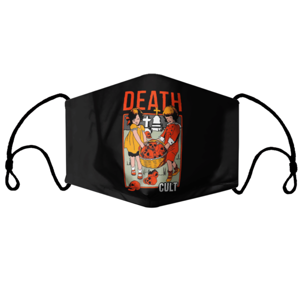 Death Cult black face mask