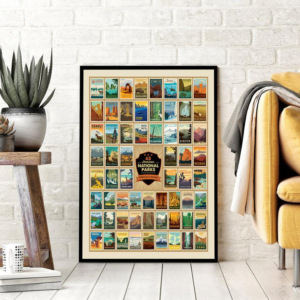 63 American National Parks Wilderness And Wonder Poster Canvas