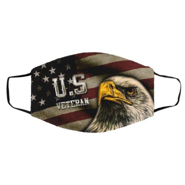 US Veteran Bald Eagle American Flag face mask