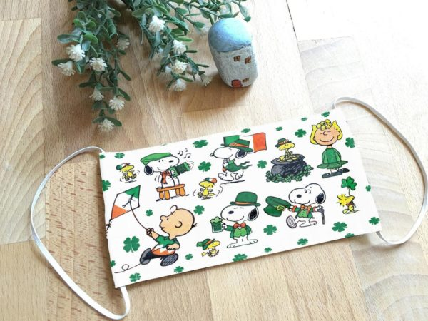 Snoopy St Patrick's Day Face Mask