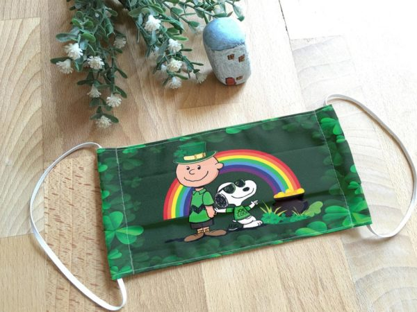Snoopy and Friend St Patrick's Day Face Mask