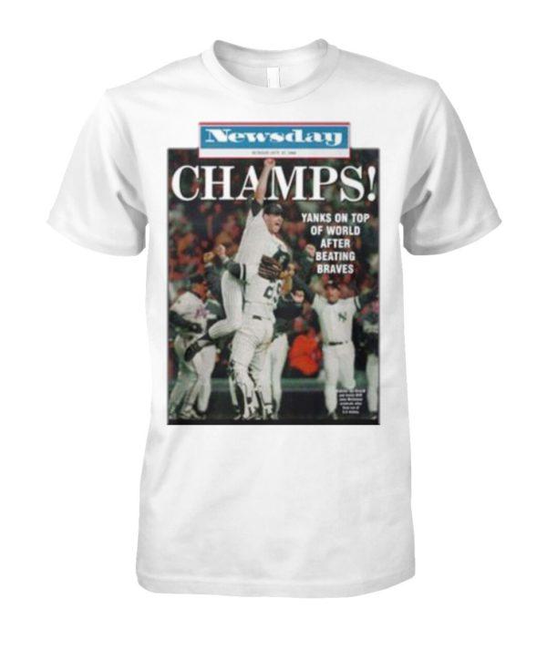 Vintage 1996 Yankees Newsday Championship Tee Shirt