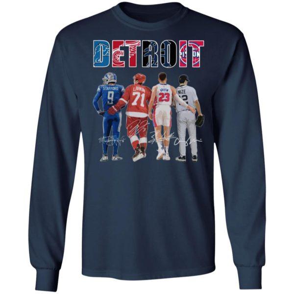 Detroit Detroit Lions Detroit Red Wings Detroit Pistons Detroit Tigers Stafford Larkin Griffin Mize Signatures Shirt
