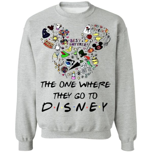 Mickey Mouse Head The One Where They Go To Disney Shirt