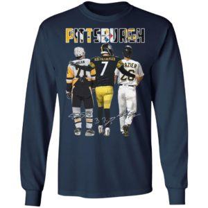 Pittsburgh Pittsburgh Steelers Pittsburgh Penguins malkin Roethlisberger Raizer signatures shirt