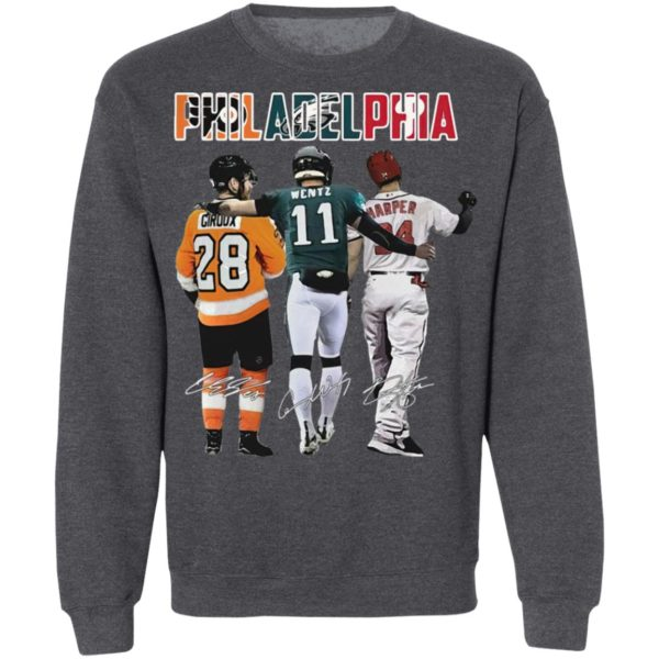 Philadelphia Philadelphia Eagles Philadelphia Flyers Primary Philadelphia Phillies Claude Giroux Signatures Shirt