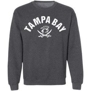 Red Tampa Bay Old School Pirate TB Cool Tampa Bay Shirt