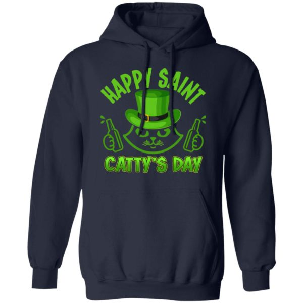 Happy Saint Catty's Day Funny Cat St Patrick's Day Shirt