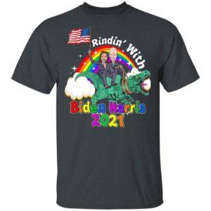 Riding Dinosaur with Biden Harris 2021 – 46th President Madame Vice President Shirt