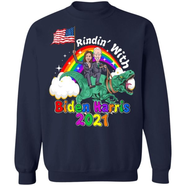 Riding Dinosaur with Biden Harris 2021 – 46th President Madame Vice President Shirt