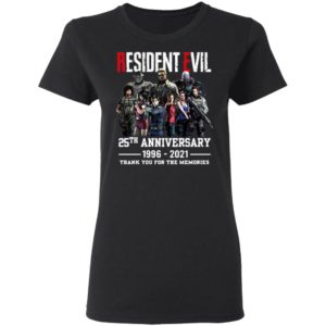 Resident Evil 25Th Anniversary 1996-2021 Thank You For The Memories Shirt