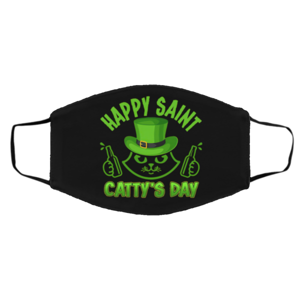 Happy Saint Catty's Day Funny Cat St Patrick's Day Mask