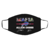 Buffalo Bills Mafia Allen Diggs signatures Mask