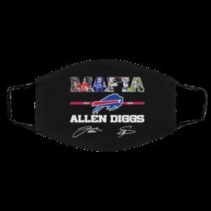 Buffalo Bills Mafia Allen Diggs signatures Mask