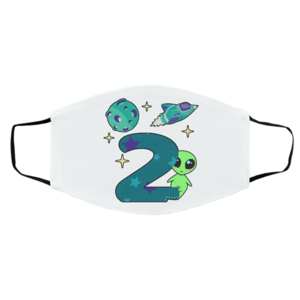 The spaceship planet and Baby Alien Boys 2nd birthday Mask