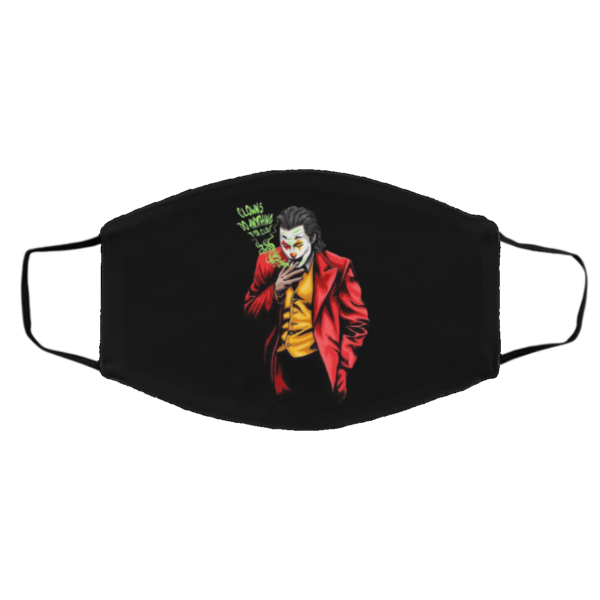 Jordan 5 What The Clout Clown Face Mask