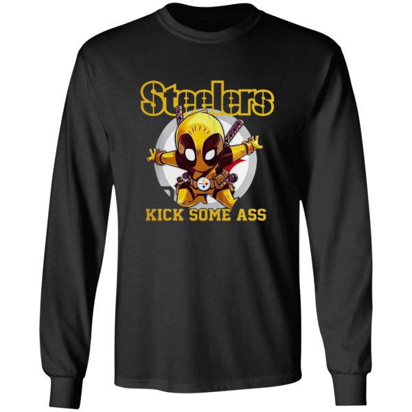 Deadpool Pittsburgh Steelers Kick Some Ass Shirt